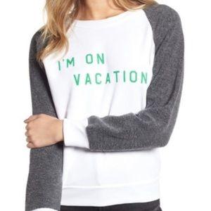 New Wildfox I'm on vacation sweater size XS